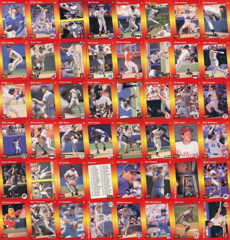 1992 Triple Play Baseball 264 Card Set