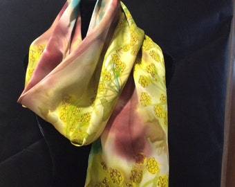 Desert Bloom Silk Scarf
