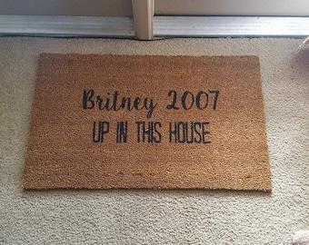 Charmant Britney Spears Doormat | Welcome Mat | 2007 | Funny Doormat | Wine Doormat  | Funny Gift | Home Decor | Welcome | Food Decor | 90s Decor