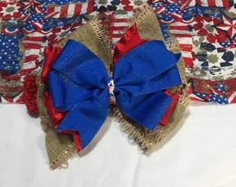 "Patriotic 7"" infant headband"
