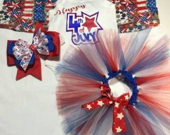 "12 mth ""Happy 4th of July"" set"
