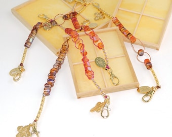 Czech Glass Cubes Hands-Free Rosary