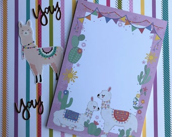 Llama A5 Notepad, List Pad, Things To Do Note Pad, Desk Pad, Stationery, Paper Pad, To Do List Notepad, Planner Notepad