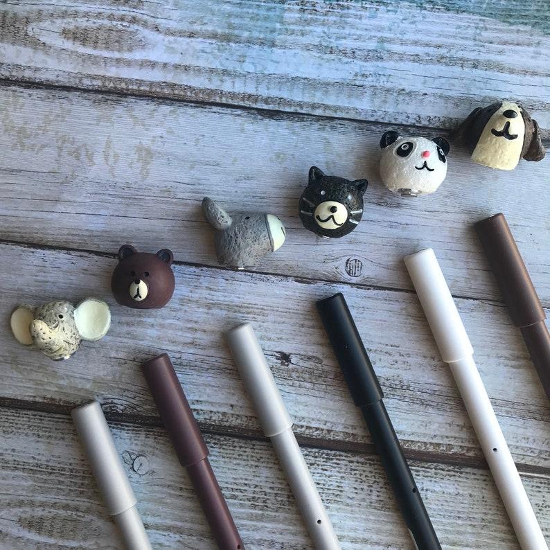 Magnetic Top Animal Friends Gel Pen - Bear, Cat, Dog, Donkey, Elephant,  Panda, Gel Pen, Animal Pen, Animal Gel Pen, Pen, Gel Pens