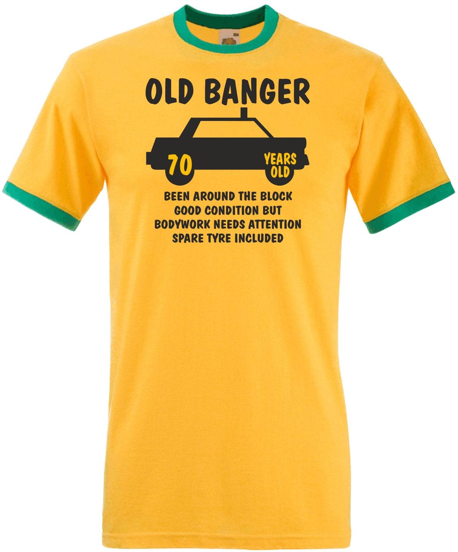 0ld Banger 70 ans contraste vieux contraste ans Ringer T-Shirt 70e anniversaire cadeau cadeau 0f54e0