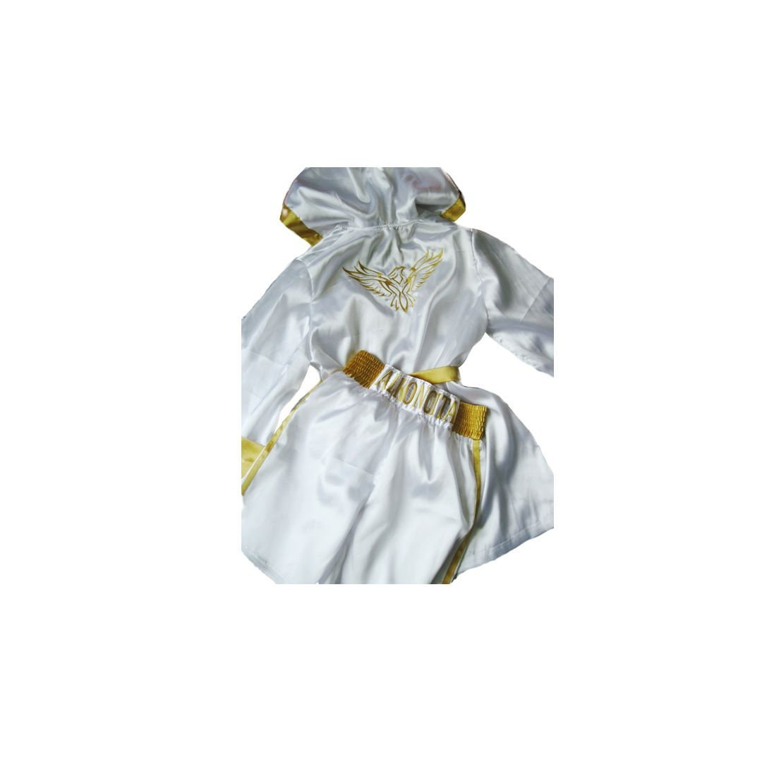 Personalised Boxing Robes: Custom Boxing Shorts And Boxing Robe For Man Boxing Outfit