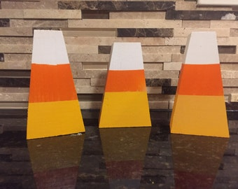 Wooden Candy Corn