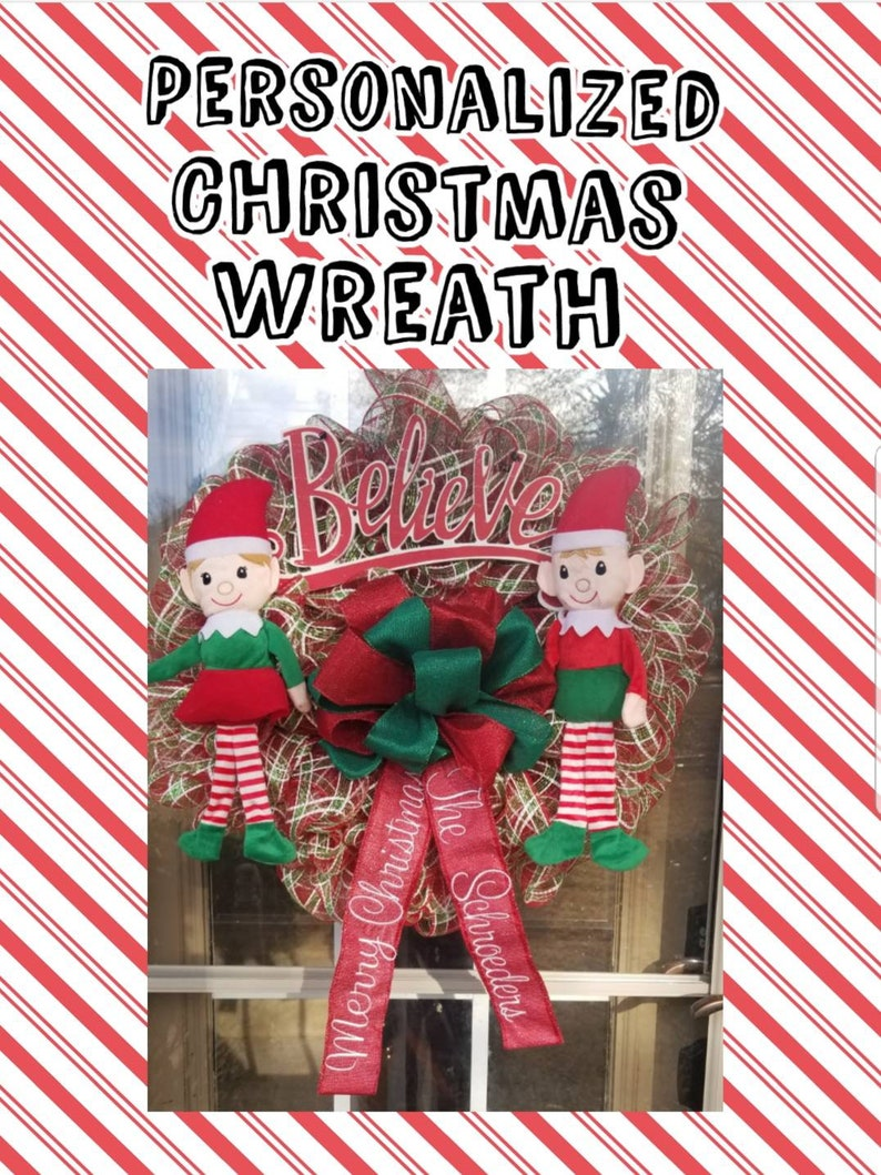 Personalized Christmas Wreath