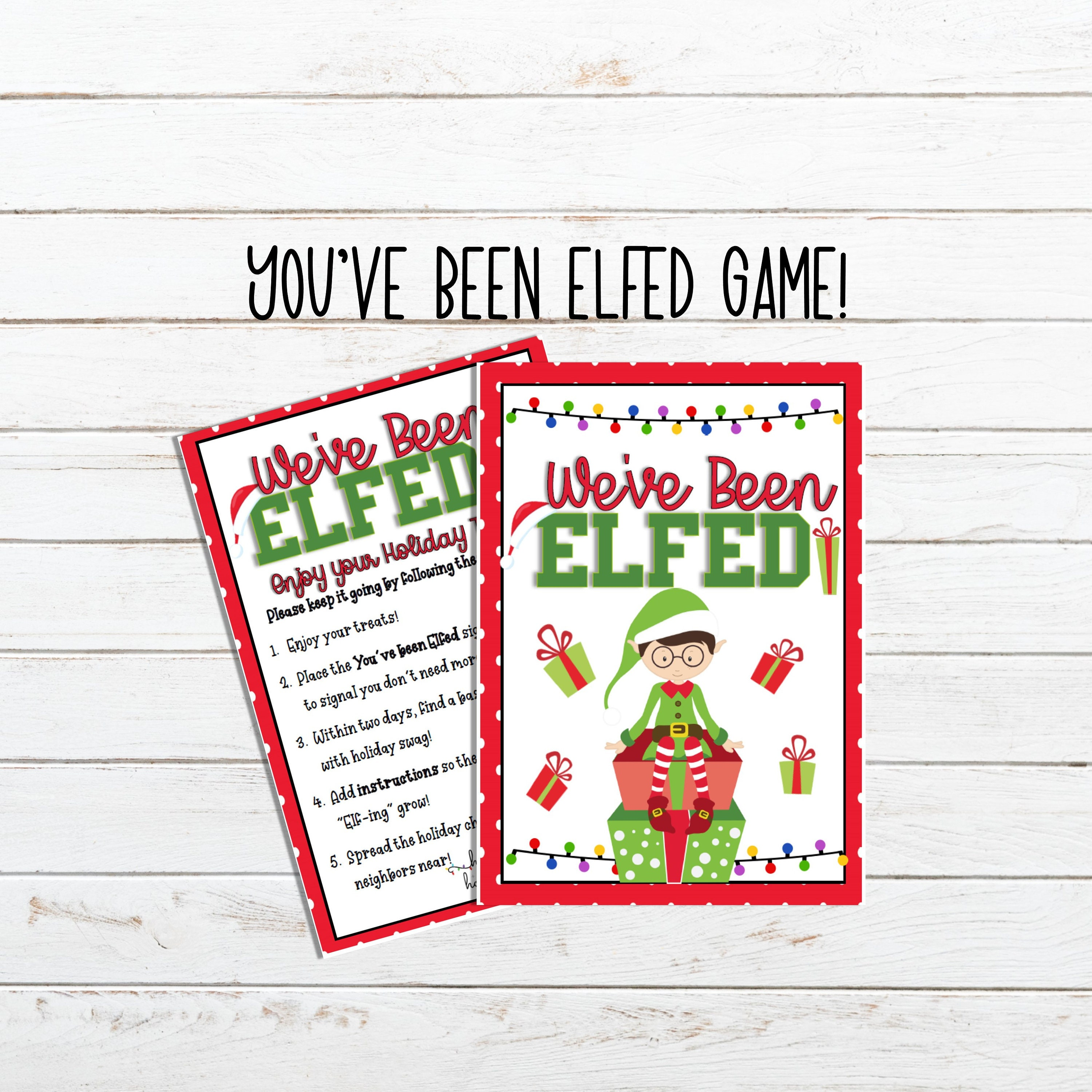 You Ve Been Elfed Printable For A Quarantined Christmas Etsy