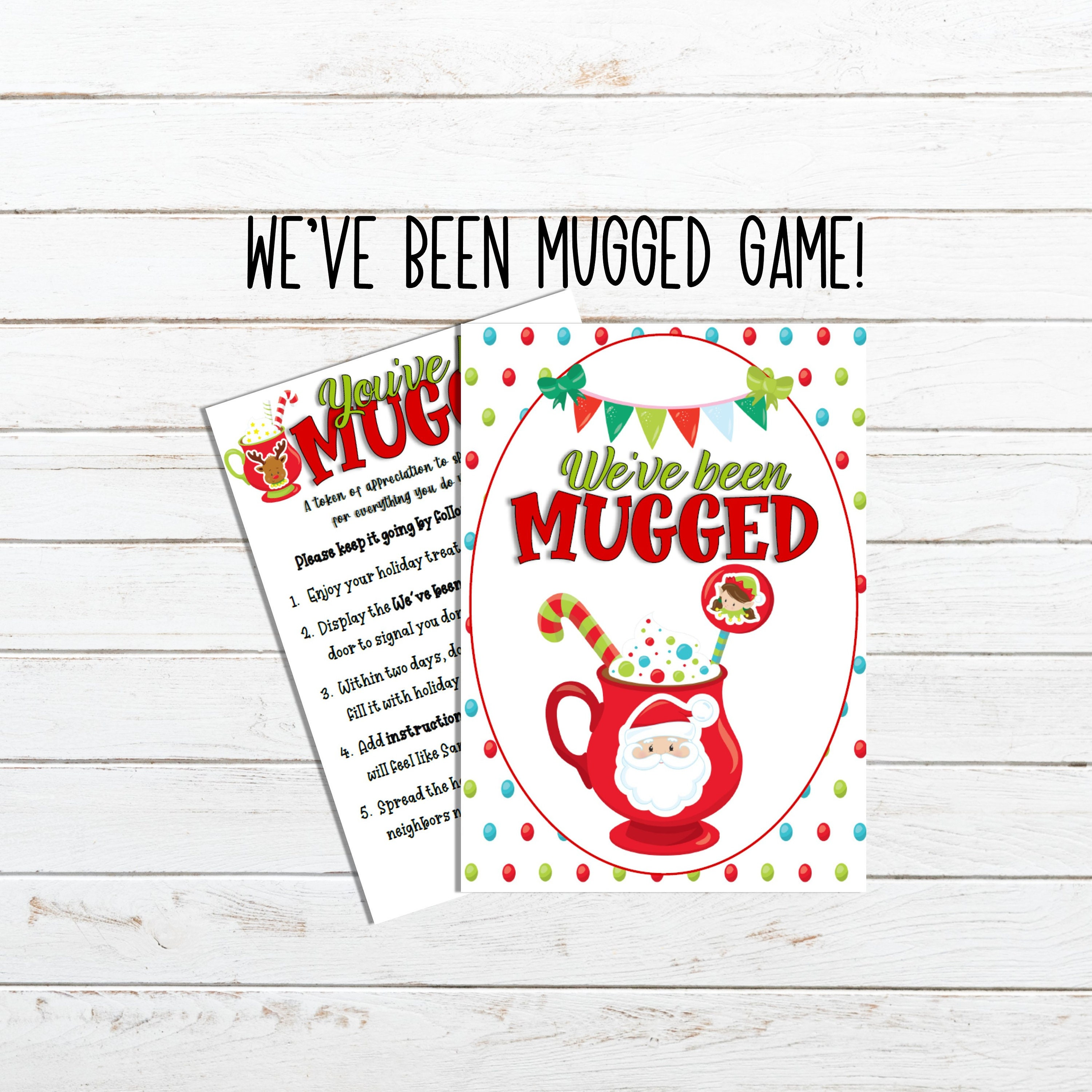 You Ve Been Mugged Printable For A Quarantined Christmas Etsy