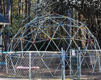 Step by step instructions to build your own Geodesic Dome playground