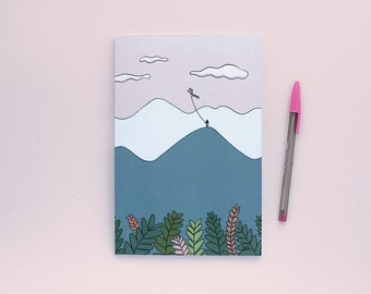 journal field of flowers pink and blue 6x9 lined journal writing journal with blank lined pages