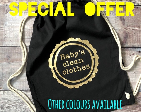 A SPECIAL OFFER - Cotton Drawstring Baby Bag - Various Colours