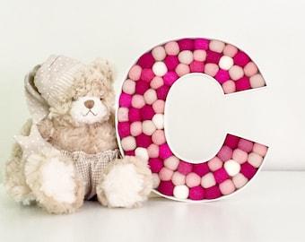 SALE Pink Nursery Letter C