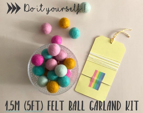 Felt Ball Garland Kit - 1.5m