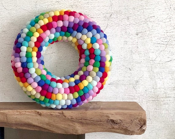 Rainbow Door Wreath
