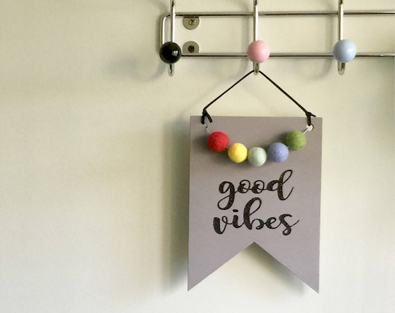 Wooden Good Vibes Sign