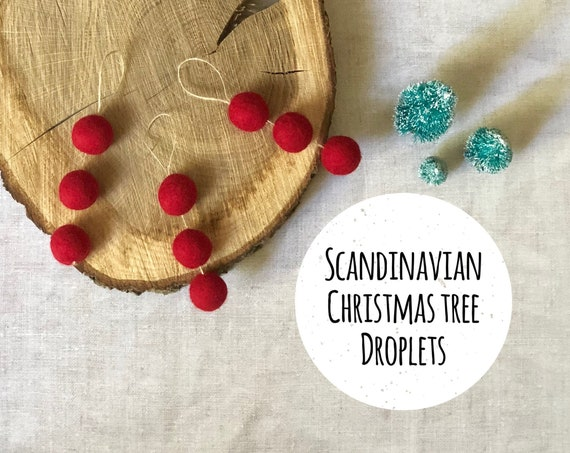 Scandinavian Christmas Felt Ornaments