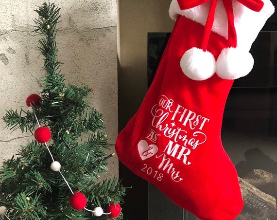 Mr & Mrs Christmas Stocking 2018