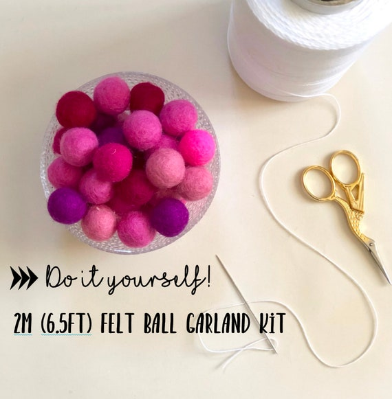 2m Felt Ball Garland Kit