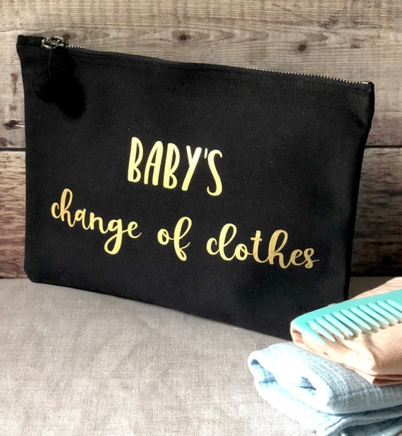 Baby Travel Bag in Black and Gold