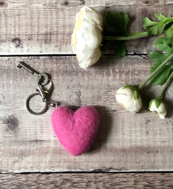 Heart Keychain - Many Delicious Colours To Choose From