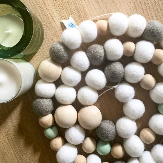 Nordic Style Wood Bead Garland