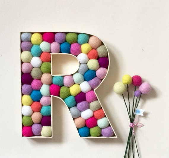 Freestanding Letter in Rainbow Colours