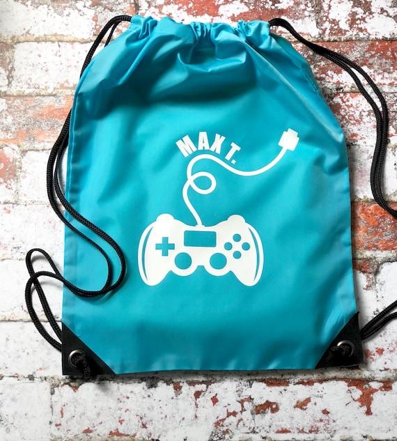 5fc7261fa8 Personalised PE Bag Boys Kit Bag Drawstring Bag Water