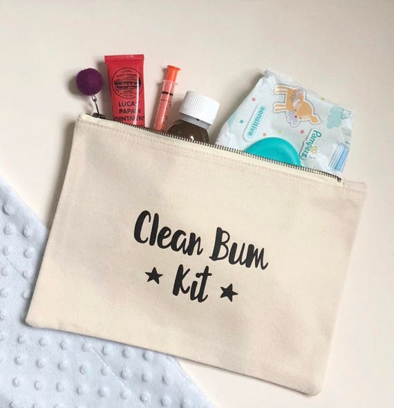 Clean Bum Kit canvas wallet