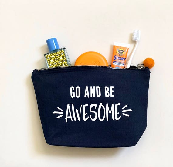 Kids Wash Bag - Go and Be Awesome