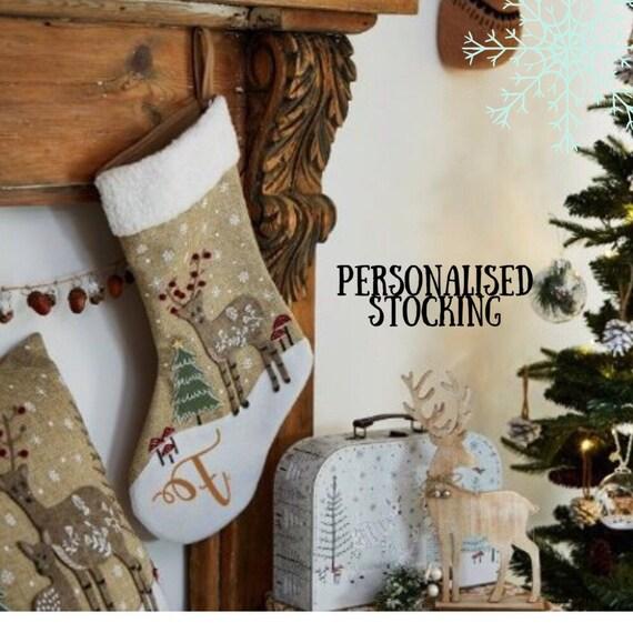 Felt & Jute Personalised Stocking