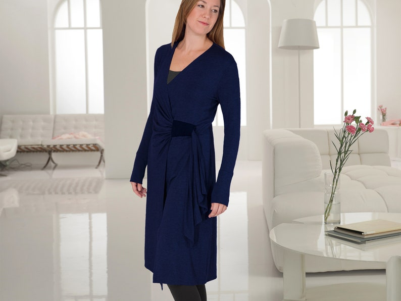 ff8676c4cb Cardigan Yoga Cover-up / Softly Sculpted Asymmetric Sweater or   Etsy
