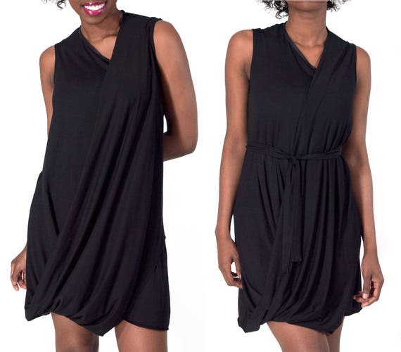 88ff2b35e1821 Black Dress with Back Cutout   Elegant Sleeveless Little Black