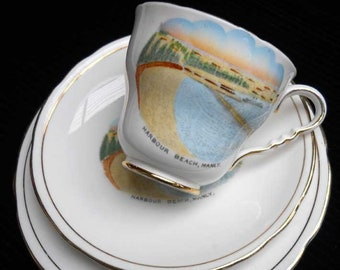 Harbour Beach Manly Souvenir Ware Trio Vintage Royal Stafford FREE SHIPPING