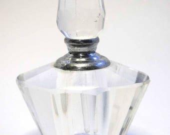 Crystal Glass Perfume Bottle Vintage