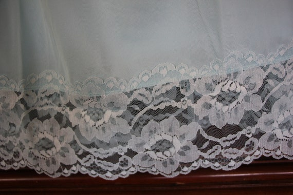 Excellent Condition Pale Blue Helen of Troy Lots of Lace Size medium  Large 1970/'s Vintage Nylon Nighty