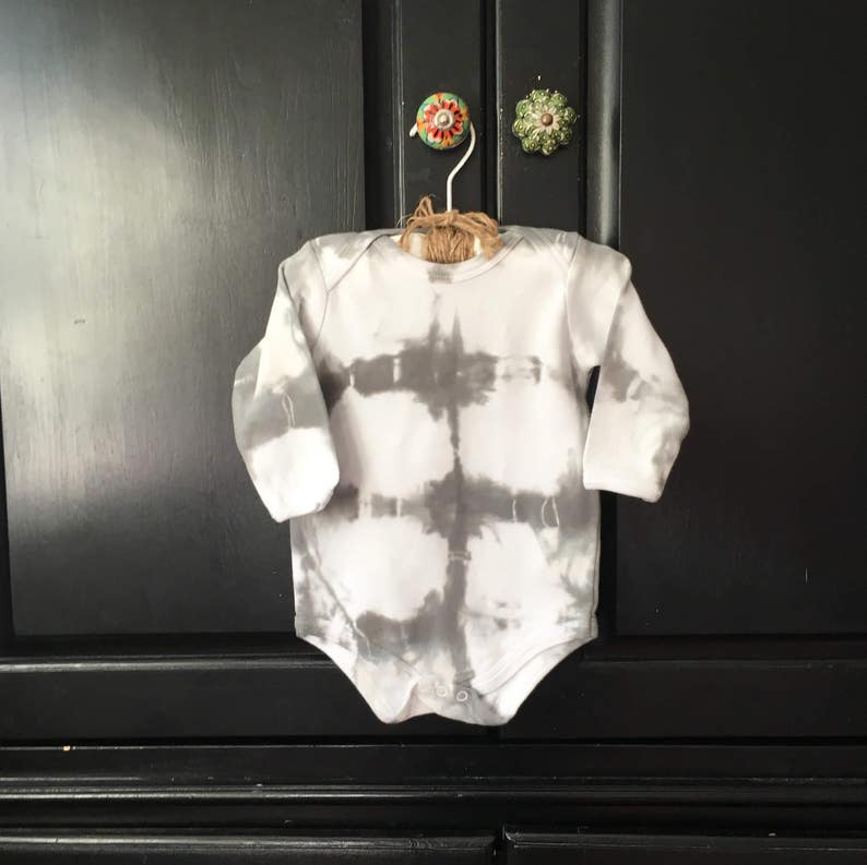 3fb6b7f3b3f0 Tie Dye Baby Onesie 6-9 month old long sleeve hippie baby