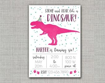 Dinosaur Invitation / Dinosaur Party / Dinosaur Birthday