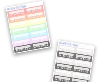 Habit Trackers - Rainbow Collection | Planner Stickers for Erin Condren Vertical Life Planner