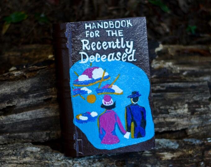 Handbook for the Recently Deceased Paper Mache Trinket Box