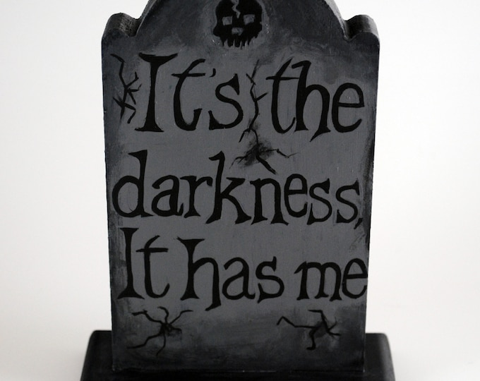American Horror Story Painted Gravestone