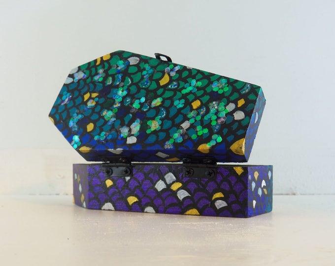 Mermaid Scales - Coffin Trinket Box