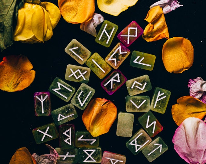 Resin Elder Futhark Runes (Set of 25)