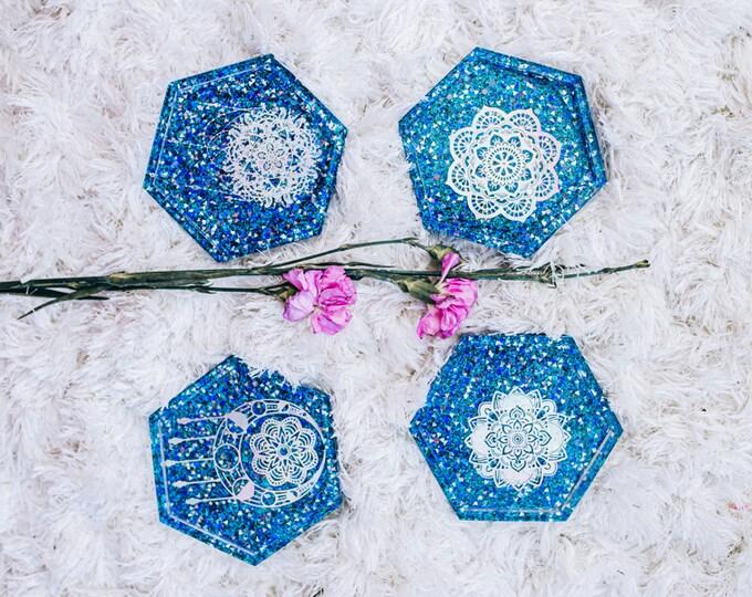Resin Coasters (Set of 4)