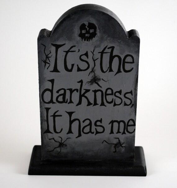 American Horror Story Painted Gravestone