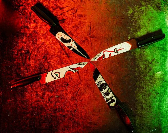 Handpainted Horror Character Knives