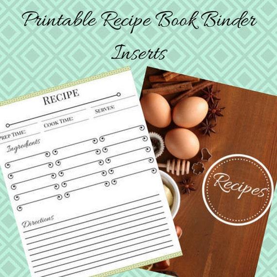 Beautiful Binder Recipe Book Printables Etsy