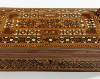 Jewelry box / Multipurpose Storage Wooden Box - Wood Inlay Art