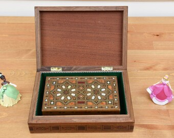 Wooden Jewelry Boxes / Marquetry Jewelry Boxes / Inlay Wood Art / Syrian Mosaic